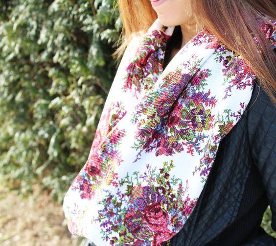scarves Floral Scarf Boho Scarf Boho Women's by ElenasLittleShoppe