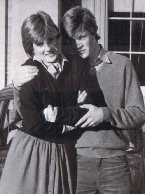 Princess Diana and her brother Charles Spencer