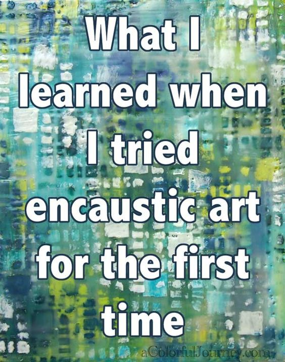 What I learned while trying out encaustic for the first time by Carolyn Dube using StencilGirl stencils.