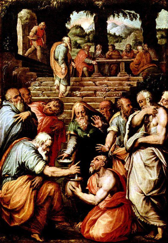 """""""O Profeta Eliazar"""".   (by Giorgio Vasari, * Arezzo, 30/Julho/1511 - Florença, 27/Junho/1574)."""
