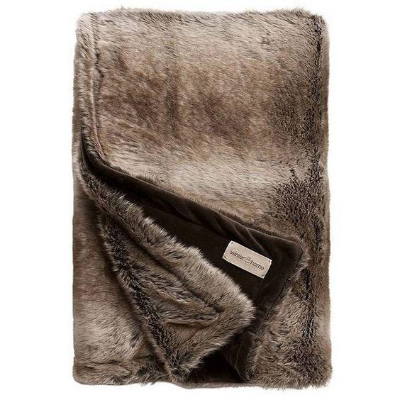 Occa-Winter Occa Winter Desert Fox Faux Fur Throw 240x240cm found on Polyvore