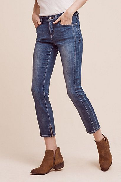 Pilcro Stet Mid-Rise Ankle Jeans #anthropologie