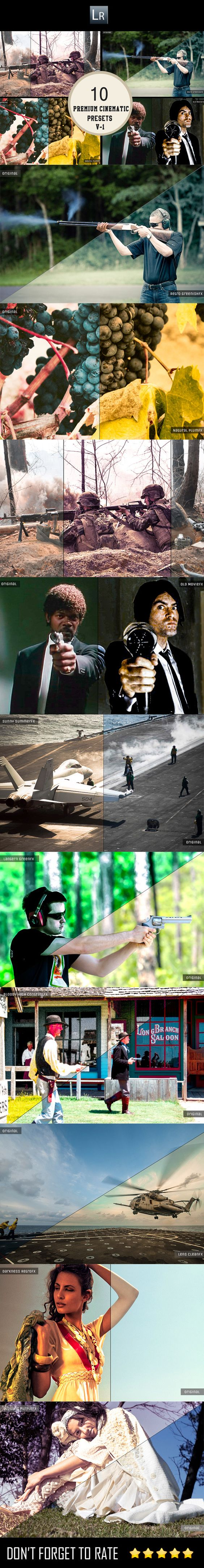 10 Cinematic Presets V1 — LRTemplate #random #fx • Available here → https://graphicriver.net/item/10-cinematic-presets-v1/5902571?ref=pxcr