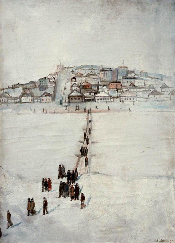 Alexander Arkadievich Labas  - Winter in Lugansk