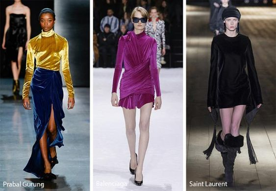 Fall/ Winter 2018-2019 Fashion Trends: Velvet Clothing