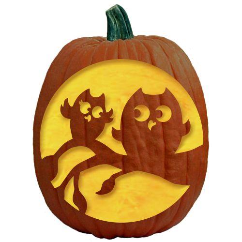Pumpkin carving patterns pumpkin carvings and free for Fall pumpkin stencils