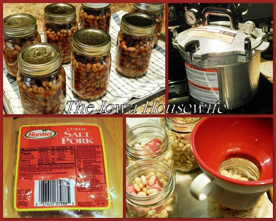 The Iowa Housewife: Home Canned Boston Style Beans