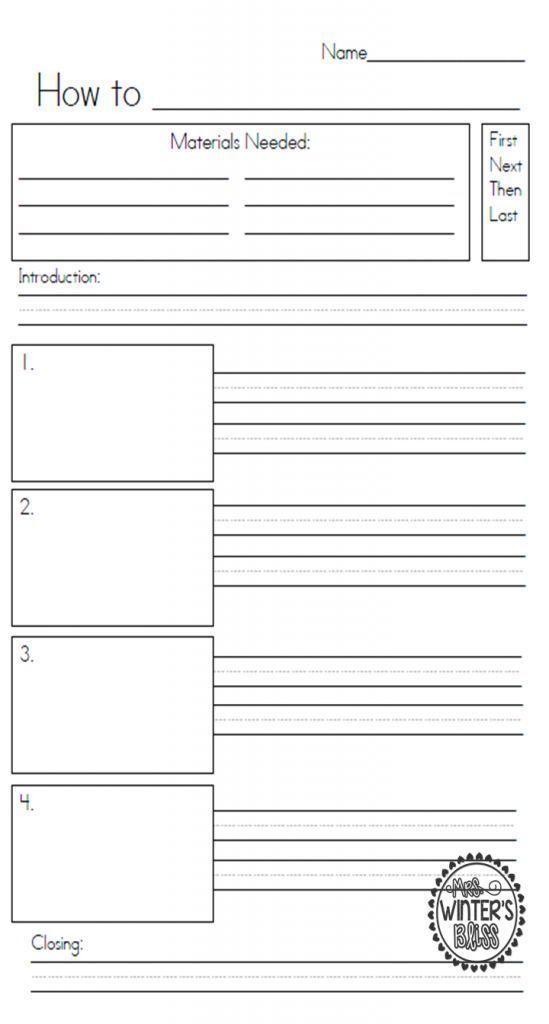 How To Writing Procedural Writing Templates Procedural Writing