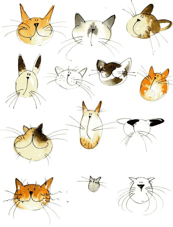 Kitties by Jill Latter  -  http://fmillustration.typepad.com/blog/2011/05/did-you-go-to-art-college-and-how-did-your-decision-help-or-hinder-you.html   (05-29-14)