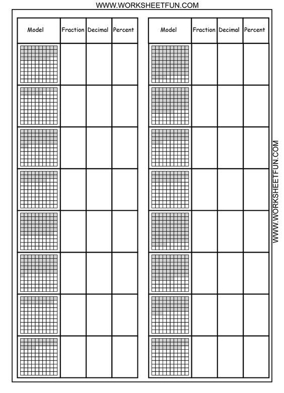 Number Names Worksheets fraction percent decimal worksheets : Decimal, Worksheets and Fractions on Pinterest