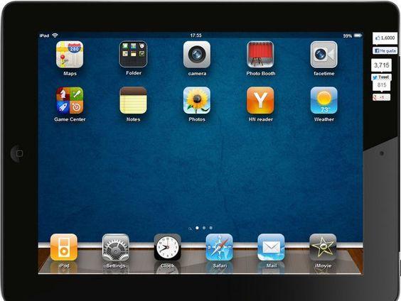 iPad2 simulator, un simulador web para iPad2