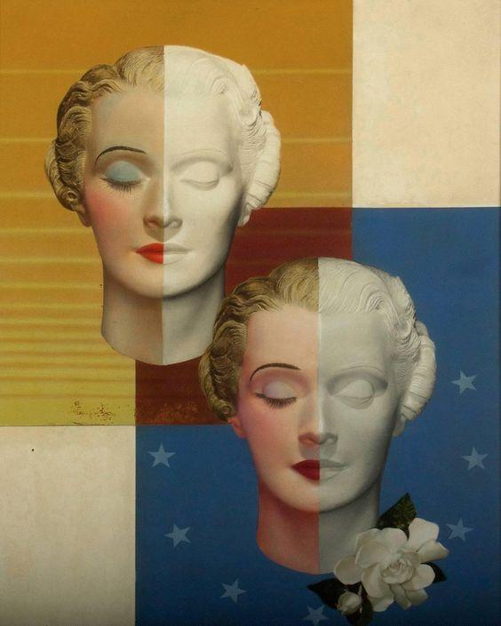 A Pair of Art Deco Heads, 1930 Edwin Georgi (1896 - 1964)