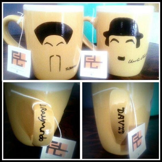 FA - Diseño y Creaciones / #FuManchu #Chaplin #Tazas #Mugs / Personalizado