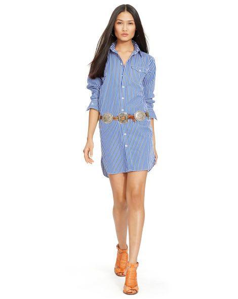 Striped Cotton Shirtdress - Polo Ralph Lauren Short Dresses - RalphLauren.com