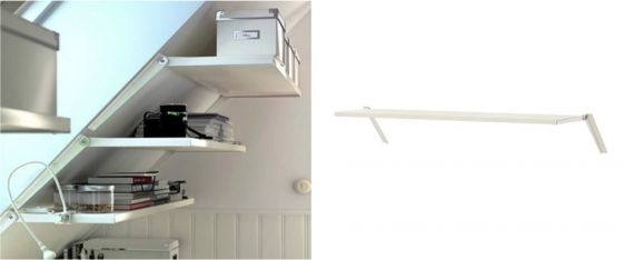 Etagere pour combles ikea  rangement  Pinterest  Ikea