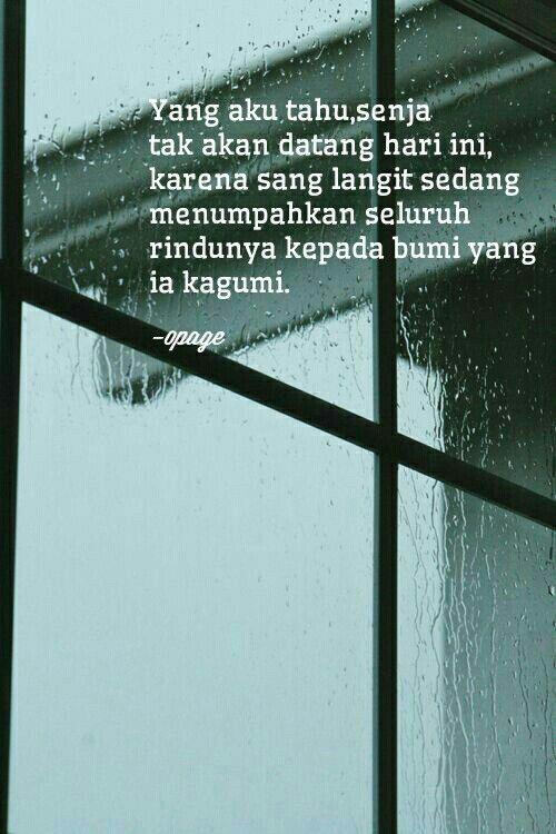 Hujan Banyak Membawa Kenangan Yang Telah Berlalu Dan Rindu