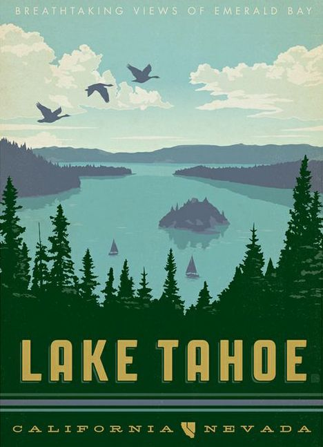 Lake tahoe lakes and art prints on pinterest for Lake tahoe architecture firms