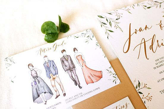 Dress Code Card Wedding Invitations Wedding Invitation
