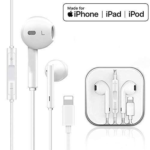 Zdago Stereo Headphones For Iphone Ipad Headphones Wired With Mic Volume Control Earphones Compatible With Iphone11 P Stereo Headphones Headphones Ipad Pro