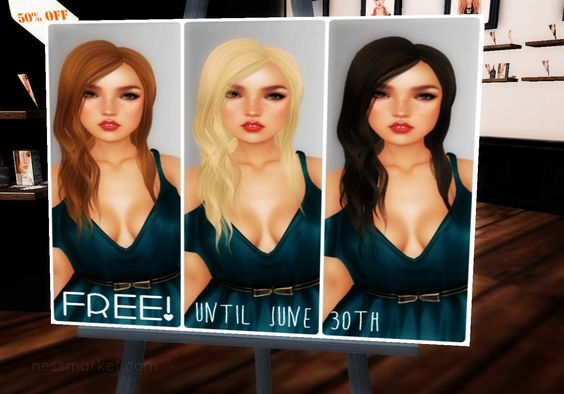 Misty Day Three Hair Summer Freebie. The gift includes the Misty Day bombshell blonde, coffee with cream and softest black hair.