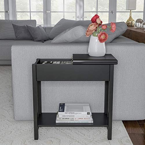 Buy Home 80 Ft 9 Lavish Flip Top End Table Slim Side Console