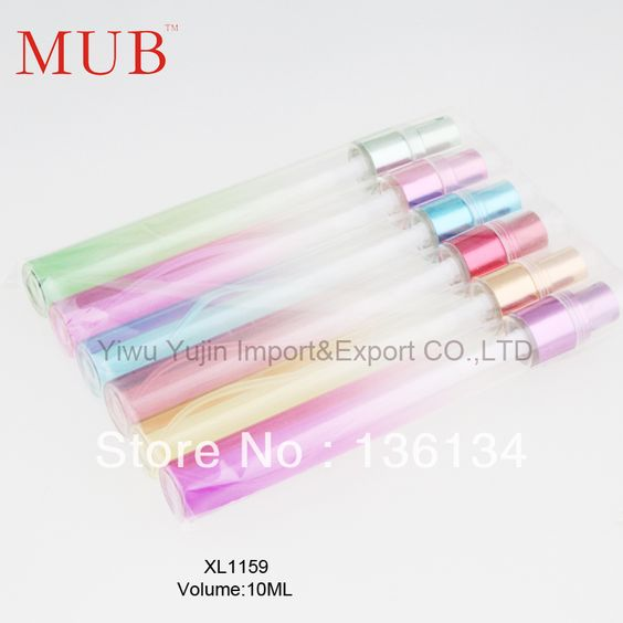 Versandkostenfrei 12pcs/lot 10ml portable parfüm flasche spray farben glasduftstoffflaschen für die reise