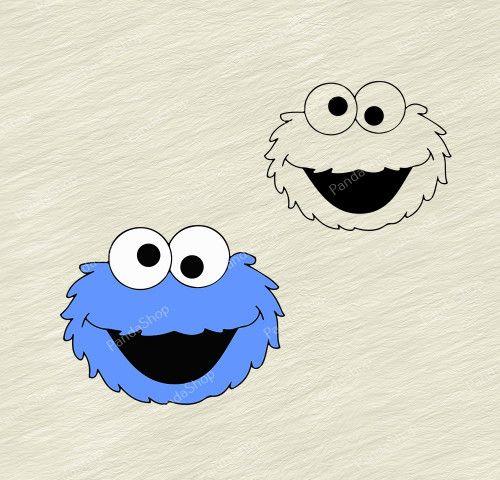 Cookie Monster Sesame Street Svg Dxf Eps Png Cricut Vector Monster Cookies Monster Tattoo Poster Prints