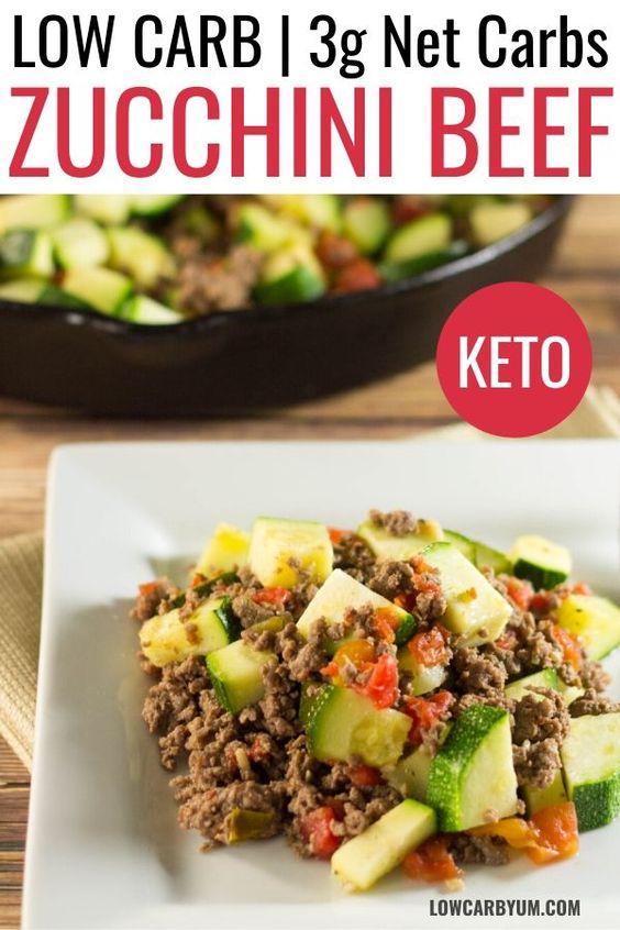 Zucchini Beef Skillet Keto Recipe