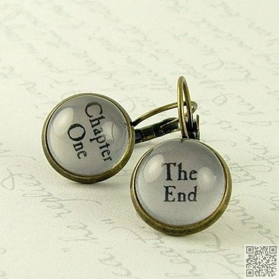 13. #Chapter One and the End - 30 Book-Themed #Accessories ... → #Books #Bracelet