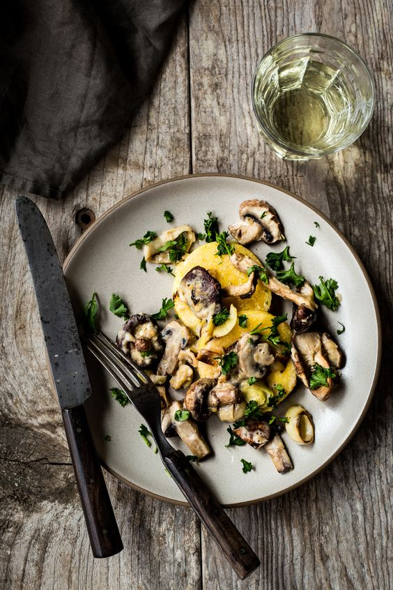 ... mushrooms polenta easy meals vegans fried polenta farms meals recipe