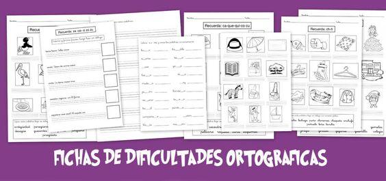 Fichas de dificultades ortográficas