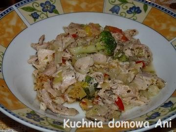 Kuchnia domowa Ani: Zapiekanka z kurczakiem i warzywami