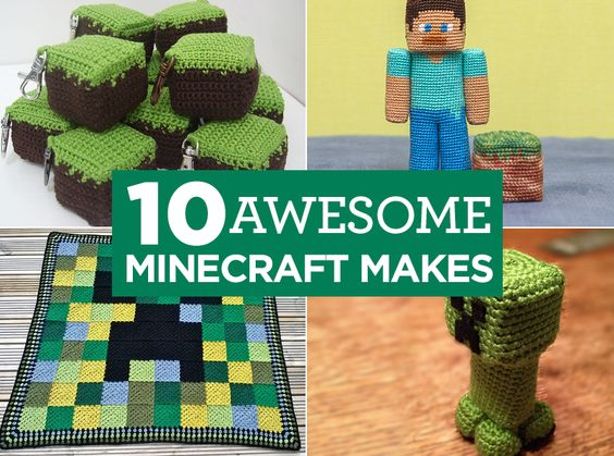 Free Crochet Pattern For Minecraft Afghan : Minecraft, Minecraft crochet and Minecraft crafts on Pinterest