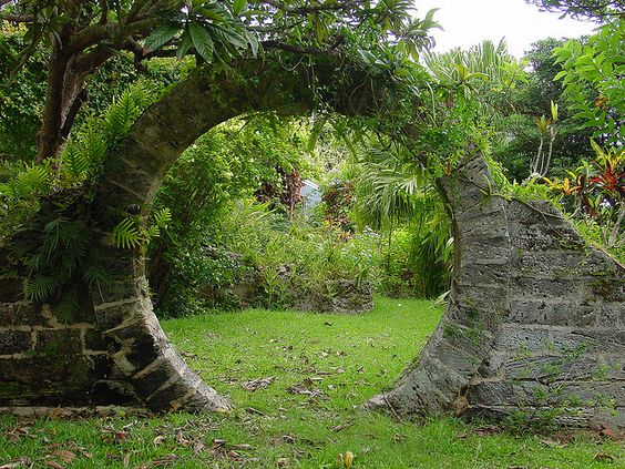 Circular Garden Gate. It's like a hobbit-hole-door-house-without-a-house.