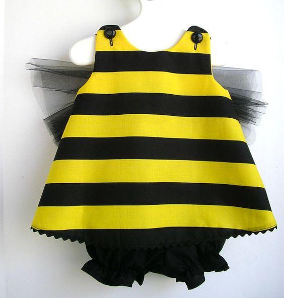 Inspiración disfraz de abeja, para bebé.: