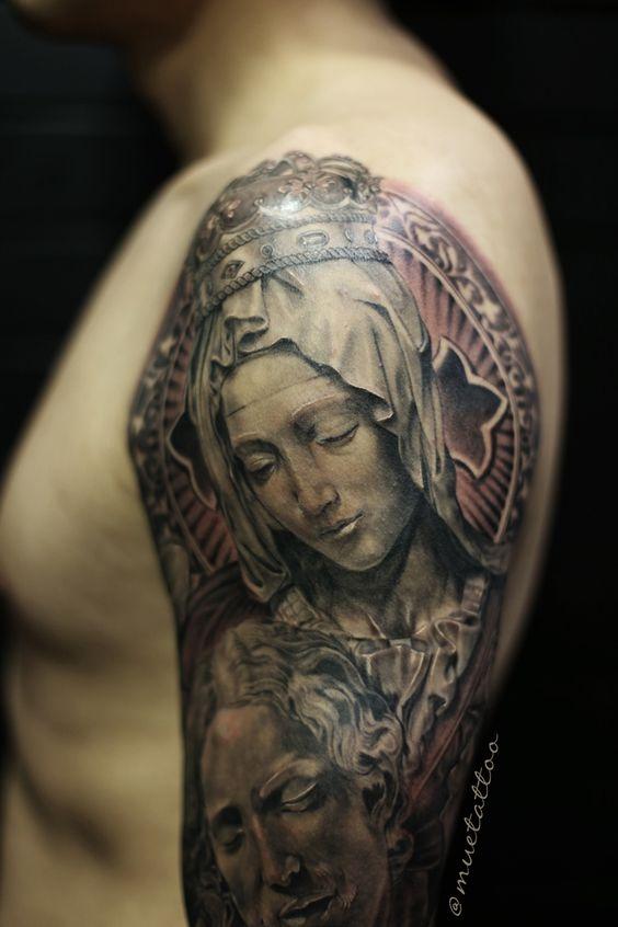 pieta jesus mary tattoo tattoo pinterest jesus and tattoos and body art. Black Bedroom Furniture Sets. Home Design Ideas