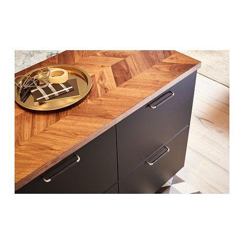Barkaboda Countertop Walnut Veneer 98x1 1 2 Ikea
