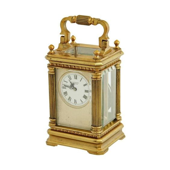 Travelling Clock L Doring Leipzig Late 19th Early 20th Century From A Carriage Clocks Clock Antique Clocks
