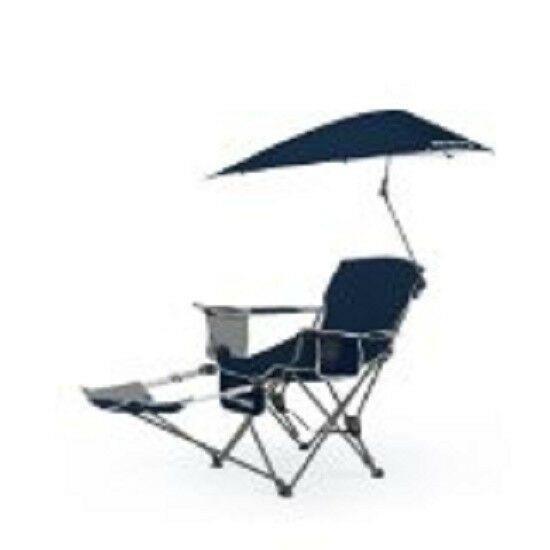 Recliner Chair Swiveling Umbrella Relax Beach Fish Swim Tailgating