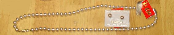 New White Sureda  Faux Pearl Necklace & Earrings Fashion Jewelry Strand String  approx 22 from HSN FREE SHIPPING