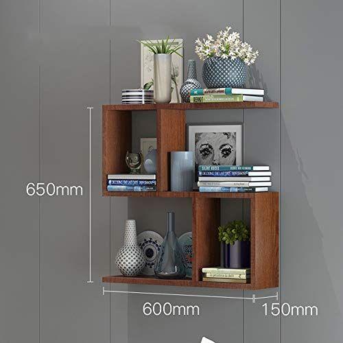 Ajzgf Bookshelf Bookshelf Wall Shelf Wall Hanging Wall Cabinet Solid Wood Partition Color Redwood Si Wall Bookshelves Wood Partition Floating Wall Shelves