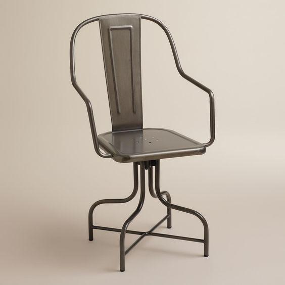 Celia Metal Swivel Chair | World Market