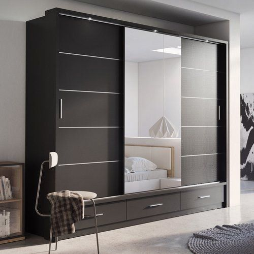 Tengan 3 Door Sliding Wardrobe 1000 In 2020 Wardrobe Design Bedroom Bedroom Furniture Design Wardrobe Door Designs
