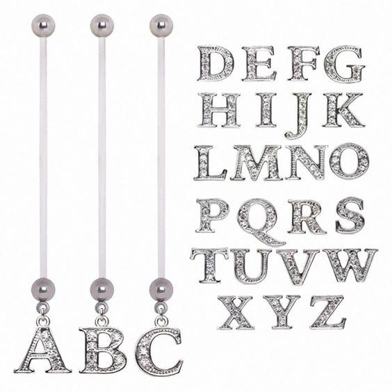 Piercing nombril de grossesse alphabet