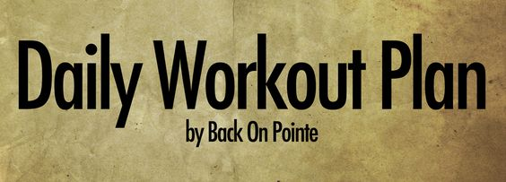 """I like this concept: """"And remember, this plan is to be done throughout the day, not all at once, and modified to your level. Add it to your current workouts or take a day or two off. That's fine. Your exercise should fit your body and your lifestyle"""". from: http://backonpointe.tumblr.com/tagged/workout-challenge"""