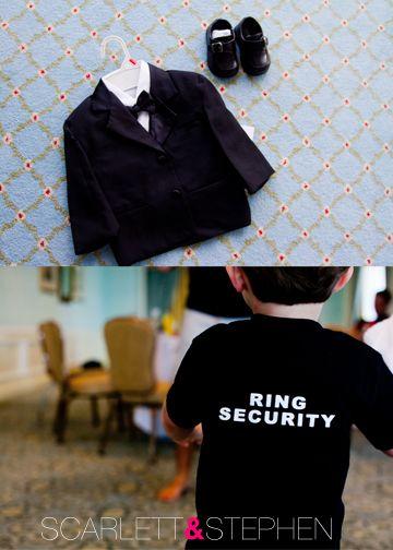 ring bearers so cute!
