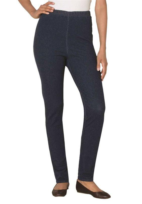 Women's Plus Size Petite Leggings, Stretch, Denim Indigo,20 Wp ...