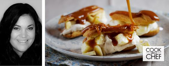 Mini Eclairs with Salted Caramel & Fresh Banana | Alida Ryder | Blogger Recipes | Recipes | Woolworths.co.za