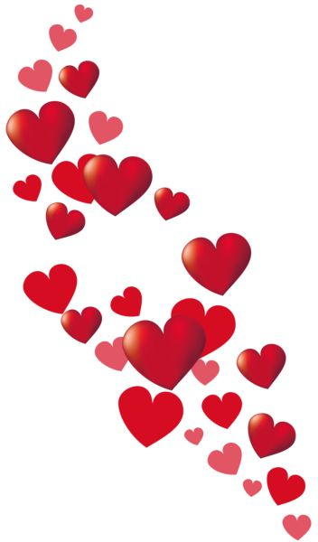 Valentine Hearts Decor PNG Clipart Picture: