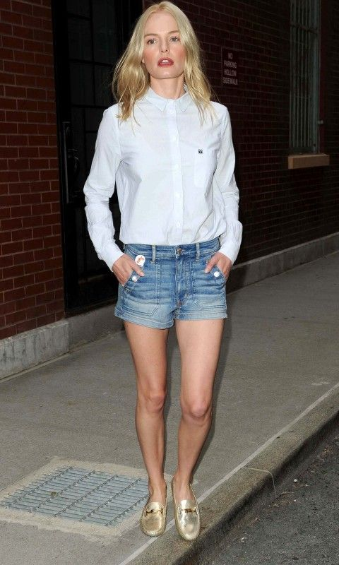 Kate Bosworth Smartens Up Denim Cut-Offs - Friday 5th August